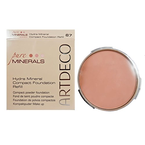 Artdeco Hydra Mineral Compact Foundation Refill, Farbe 67, Natural Peach, 2er Pack (2 x 1 Stück) - Make-up Compact Foundation Refill