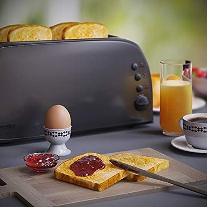 Arendo-Automatik-Toaster-Langschlitz-Defrost-Funktion-wrmeisolierendes-Gehuse-Abnehmbarer-Brtchenaufsatz-1500W-7-Stufen-herausziehbare-Krmelschublade-Edelstahl-Cool-Grey-Design