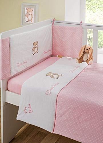 Girls 3 Piece Nursery Pink Teddy...