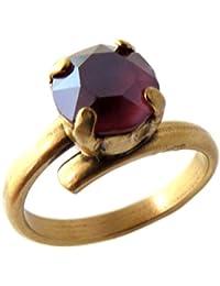 Lily-Crystal [Q2721 - Ring Craft 'Tsarine' púrpura Dorado - 8 mm.
