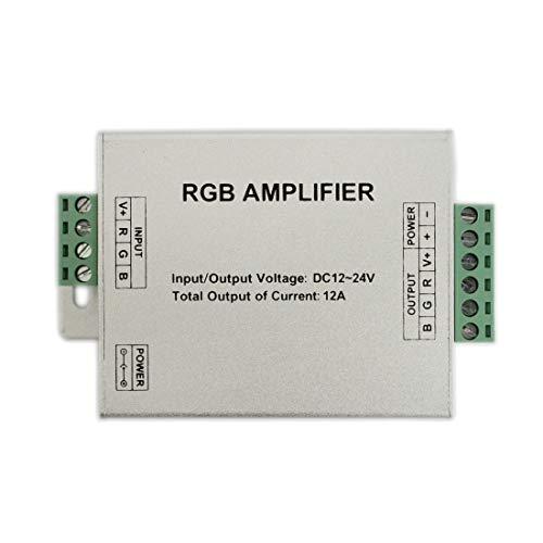 JOYLIT 3 Kanäle Daten Signal Repeater 144W 12V 24V LED RGB Verstärker Controller für 3528/5050 SMD RGB LED Strip
