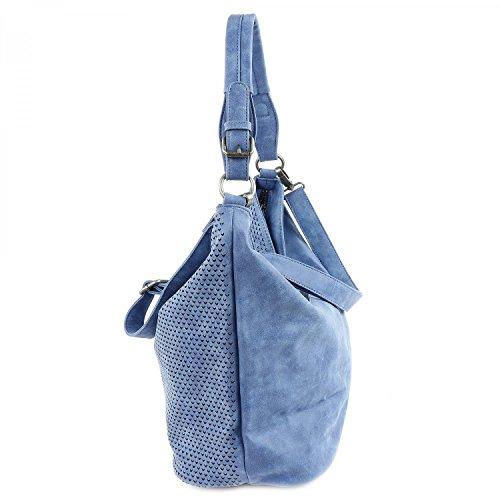 Fritzi aus Preußen Felisa Vintage Borsa a spalla 44 cm Blue