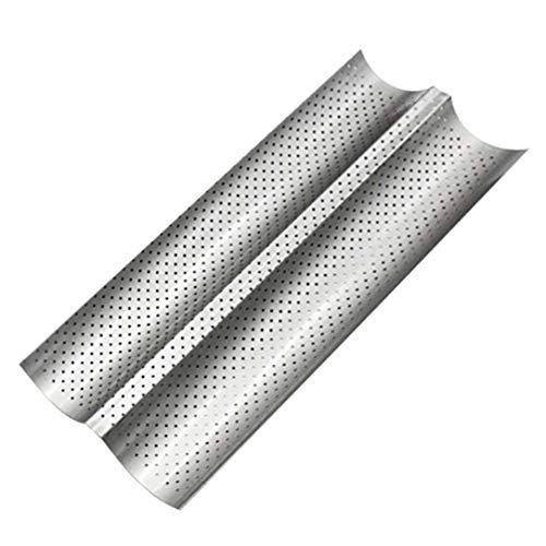 2 Grooves Welle Französisch Brot Backblech Carbon Steel Mold Non-stick Perforierte Back Werkzeug für Baguette backen Pan