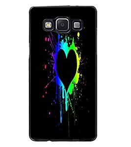 PrintDhaba Heart D-2457 Back Case Cover for SAMSUNG GALAXY A5 (Multi-Coloured)