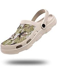 Zuecos Hombre Mujer Goma Verano Sandalias Plastico Cómodo PVC Zapatos da Jardin Playa Zapatillas Casa Transpirables Negro Blanco Azul Amarillo Talla 35-47