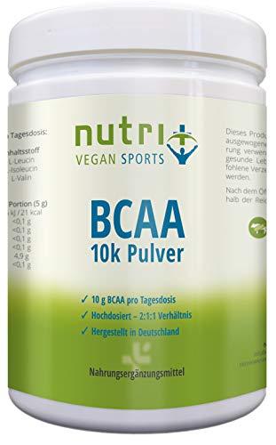 BCAA PULVER Neutral - HÖCHSTDOSIERTE BCAAS auf dem Markt - 500g - ohne Süßstoff - 2:1:1 - vegan powder unflavoured - essentielle Aminosäuren