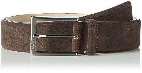 Hugo Men's C-Gabello Belt, Black, One Size, Brown (Dark Brown 202), 100 cm (Manufacturer size: 100)