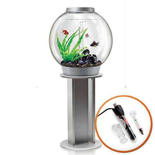 Biorb classic 60l acquario in argento con illuminazione led mcr, riscaldatore confezione & argento supporto