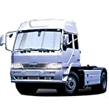 Z-W-DONG Parasole anteriore for camion Parasole, Visiera parasole for camion grande Visiera parasole in alluminio spesso Visiera parasole anti UV pratico (Color : Silver)