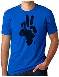 OM3 - PEACE AFRICA - T-Shirt Frieden PACE PAIX Blood Diamonds Refugees EUROPE, S - 5XL