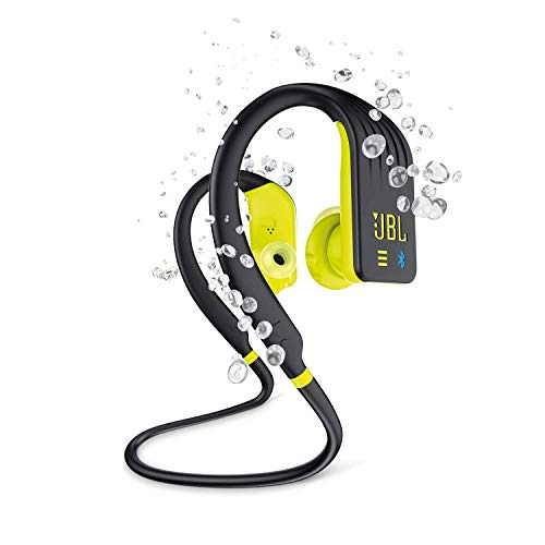 JBL Endurance Dive - Auriculares Inalámbricos Deportivos In Ear con MP3 (1GB) - Resistente al agua - Activación inmediata on y off según se insertan o no al oído - Color Negro, Amarillo