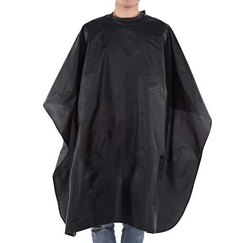 Capa de peluquero: capa de nailon, salón de peluquería, peluquería, barbería, peluquería, capa, corte, corte, corte, corte, pelo, impermeable (negro)