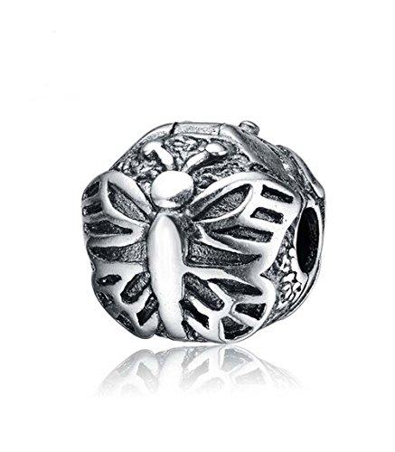 Autentico Argento 925 Lacewing farfalla clip perline fascino blocco Compatibile