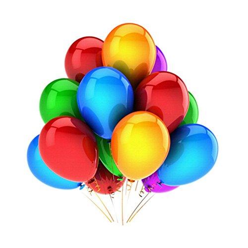 iTemer - Globos de látex brillantes de 100 piezas, 30 cm, varios colores, para fiestas, cumpleaños, bodas
