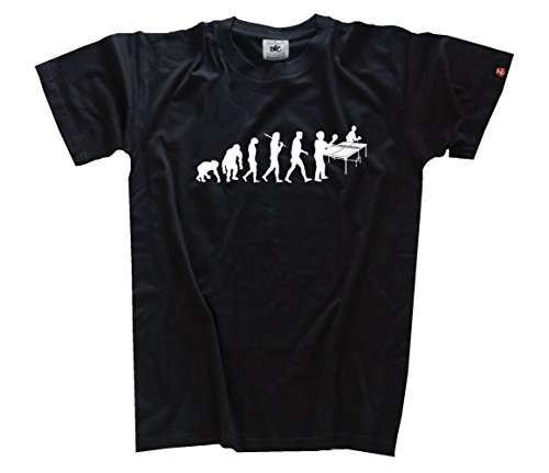 standard edition Tischtennis I evolution (echter Siebdruck - kein billigflex) T-Shirt Schwarz XL