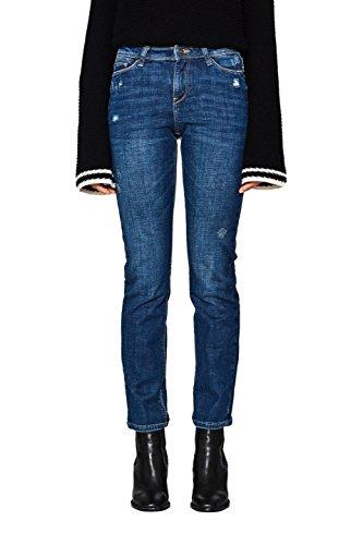 ESPRIT Damen Straight Jeans 018EE1B009, Blau (Blue Medium Wash 902), W28/L32