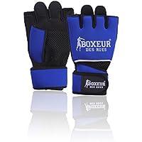 BOXEUR DES RUES Serie Fight Activewear Guanti Da Fit-boxing, Unisex – Adulto, Blu, L-XL
