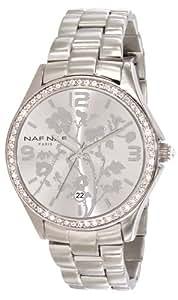 Naf Naf - N10024-204 - Haruka - Montre Femme - Quartz Analogique - Cadran Argent - Bracelet Acier Argent