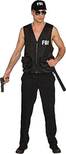 FBI Weste Polizist Agent Karneval Fasching (Herren Fbi Agent Halloween Kostüm)