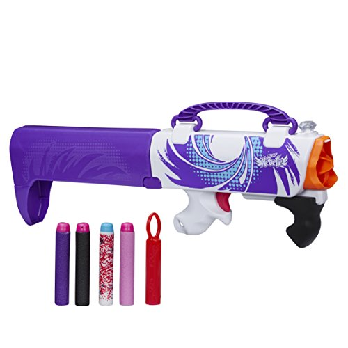 Nerf - B0474 - Rebelle - Agent Secret - Arme Secrète Violet - Pistolet Pliable