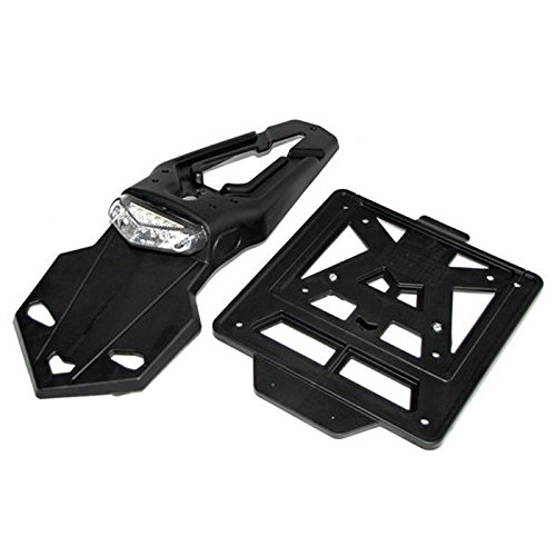 Motorrad Kennzeichenhalter LED, INTEGRA Racing Enduro schwarz (60°)