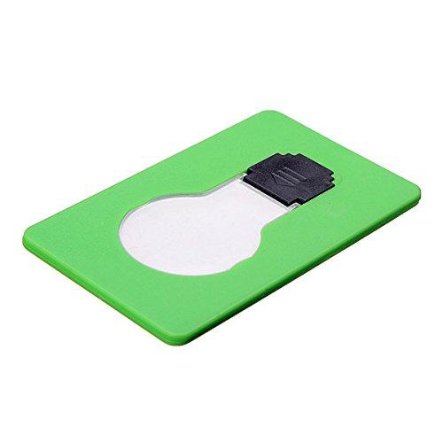 MaMaison007 4 colori LED carta tasca portatile luce emergenza luce lampadina lampada portafoglio dimensioni - verde