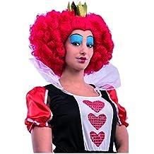 Reina de corazones peluca con la corona
