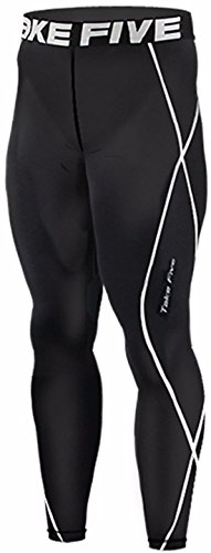 New 011 Take Five Skin Tights Compression Leggings Base Layer Black Running Pants Mens S - 3xl (L)