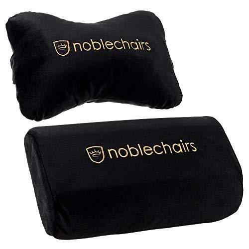 noblechairs Kissen-Set für Epic/Icon/Hero Gaming-Stühle - Schwarz/Gold