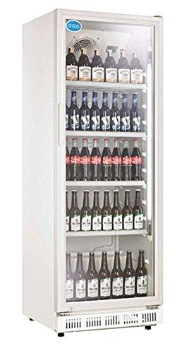 Flaschenkühlschrank mit Glastür 310 Liter Getränkekühlschrank Gewerbekühlschrank Gastrokühlschrank