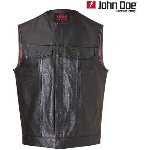 John Doe MC-OUTLAW Club - Chaqueta de piel, color negro