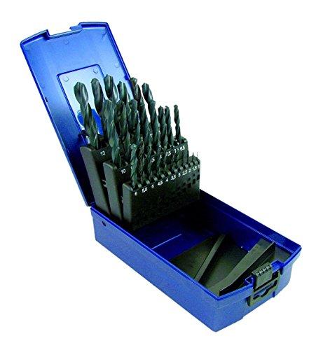 Padre 2134 HSS Coffret 19 pièces de forets spiralés professionnels à tige cylindrique 1-10 mm