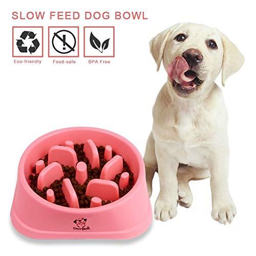 Decyam Ciotola Cani Mangiare Lento, Distributore di Cibo Lento, Ciotola per Animali da Compagnia e Animali Domestici, interattiva, Perfetta Come, Regalo della Mamma (Pink)