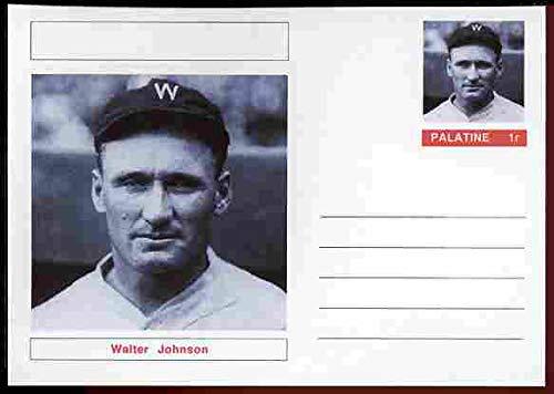 Walter Johnson Baseball (Palatine (Fantasy) Personalities - Walter Johnson (baseball) postal stationery card unused and fine PERSONALITIES SPORT BASEBALL JANDRSTAMPS)