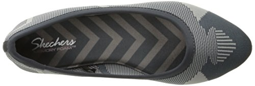 Skechers Cleo Wham Ballet piatto Charcoal/Gray Knit Mesh