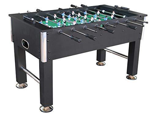 L.A. Sports Tischfußball 5' Kicker Table Liverpool Profi Kickertisch Stabiler Fußballtisch schwarz verchromte Spielstangen