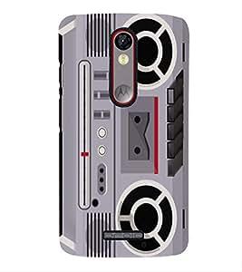 PrintVisa Designer Back Case Cover for Motorola Moto X Force :: Motorola Moto X Force Dual SIM (Animated Vintage Music Player)