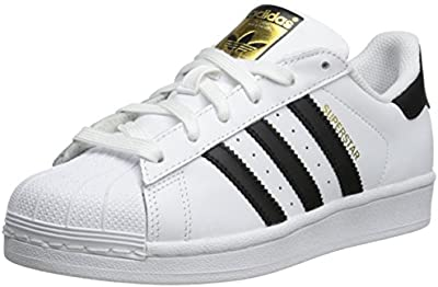 adidas Originals Superstar - Zapatillas infantil, color white black, talla 40