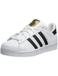 adidas Originals Superstar - Zapatillas infantil, color white black, talla 38