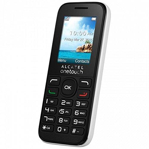 """Alcatel 1050D Móvil, Pantalla de 1.8"""" QQVGA (128 x 160), 2G, Cámara Trasera 0,08 Mpx, 32MB de RAM, 32MB de ROM, batería 400mAh, Negro"""