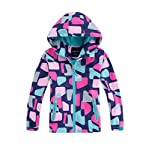 M2C Girls Hooded Fleece Lined Printed Water Resistant Jackets