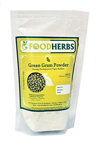 Foodherbs Green Gram Powder (200 gm) for Flawless and Glowing Skin, Hair Care
