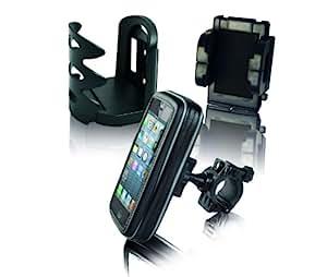 Eze Kaddy Lot de 3 accessoires comprenant un support GPS, un porte-bidon et un support pour téléphone portable Noir