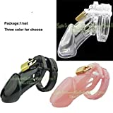 Adjustable Cockring Set 5 Size Penis Ring Dick Belt Penis Lock Plastic Male Chastity Device for Men Penis Sleeve Cock Cage Sex Toy,Pink,Cock Cage FCUK Cockring Set Steel