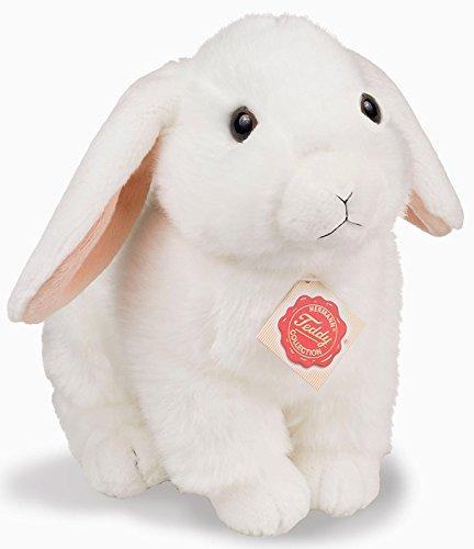 Teddy Hermann–Plüsch–Hase–Sitzende, 937890, weiß, 21cm