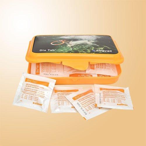 Alfavet Dia Tab Reiseapotheke in der Praktischen Plastikbox, 1er Pack (1 x 110 g)