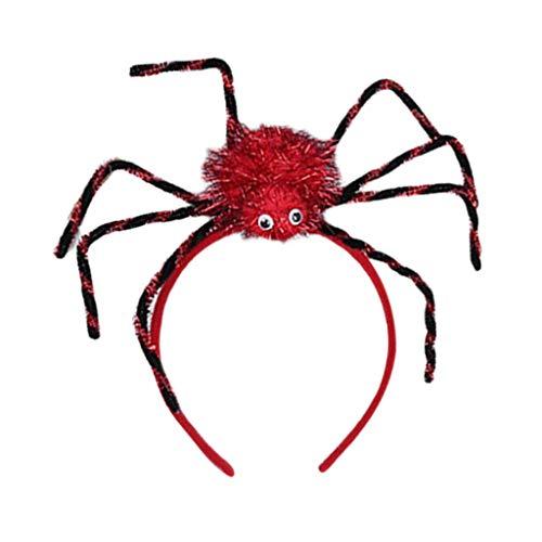 Mitlfuny Halloween coustems Kürbis Hexe Cosplay Gast Ghost Schicke Party Halloween deko,Halloween Spider Stirnband Kreatives Halloween Party Stirnband für Kinder und Frauen