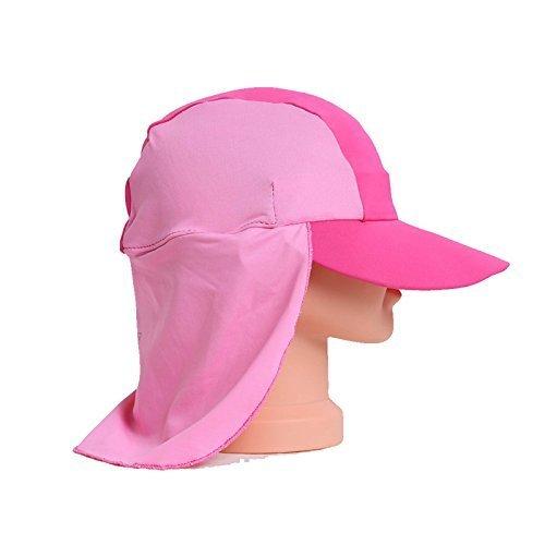 UTTER Beach Baby Sonnenhut-Kappe, Baby-Schwimmen-Schutz, UPF 50+, Mädchen Rose Pink