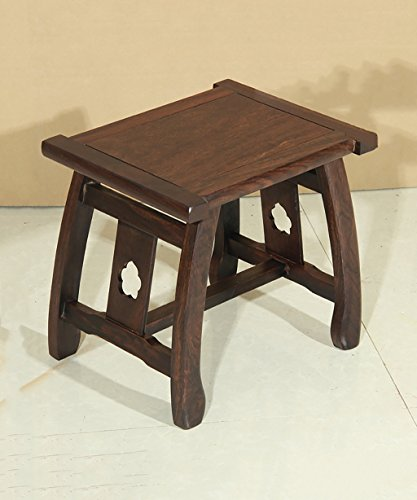 WUFENG Portable Nature Ebony Rectangle Tabouret Petit Banc, Rouge-Brun, 50 * 27 * 41cm, 2 Tailles en Option (Taille : 43 * 33 * 47.5cm)