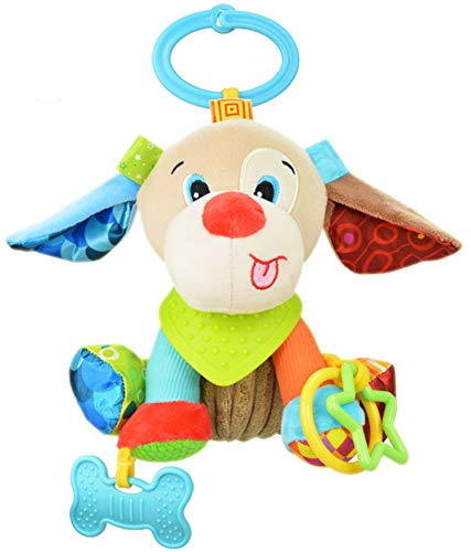 Kids Hanging Toy for Crib with Teethers Lion Pram Toys OASMU Baby Toys Colorful Lion Infant Stroller Toys Washable Squeaker Car Toys